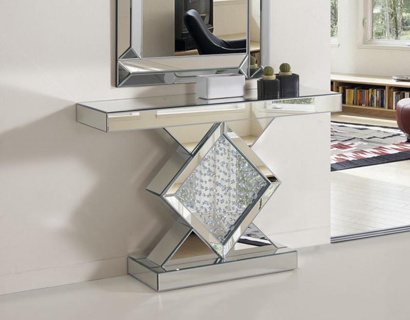 Recibidores de cristal aportando luminosidad espejos - Espejo recibidor moderno ...